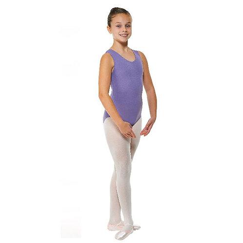 Lavender Plain Front Sleeveless leotard