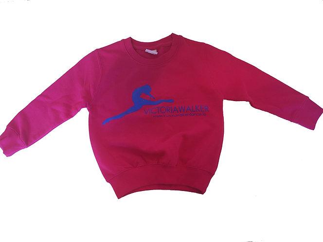 Pink Round Neck Victoria Walker Dance Sweater