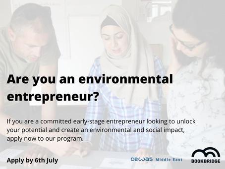 Wanted: Environmental Entrepreneur in Jordan!