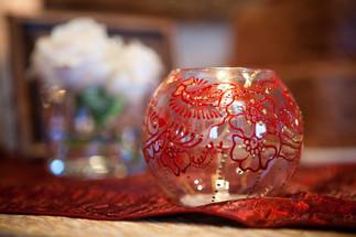 Henna on glass