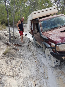 slide on camper recovery
