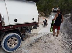 slide on camper off road