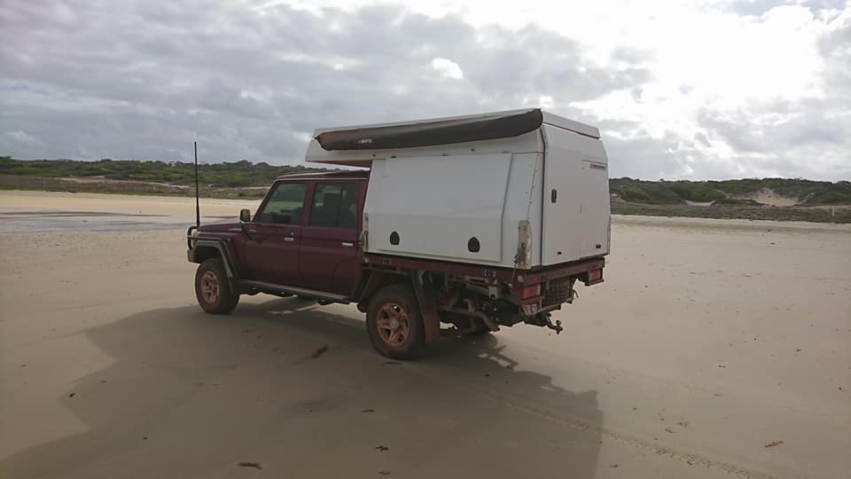 Tommy camper on the beach