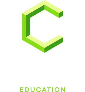 CREATE_Education_Logo_RGB_Gruen_Weiss_qu