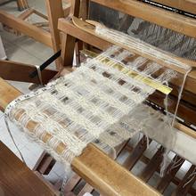 Spaced weaving on the loom
