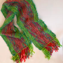 Red and Green Woven Scarf