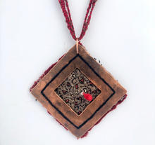 Metal and Fiber Necklace
