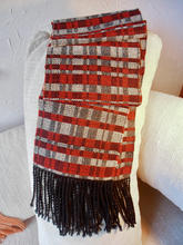 Graphic red and black scarf