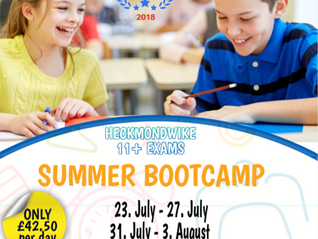 11 Plus Summer Bootcamp Prep for Heckmondwike Grammar Test