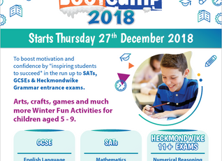 Winter Bootcamp 2018 Starts Thursday 27th December