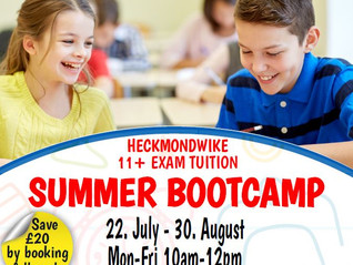 11+ Summer Boot Camp 22 July - 30 August 2019