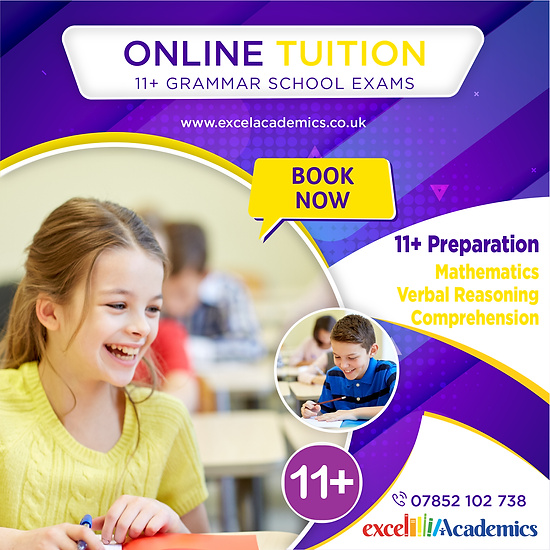 Online tuition for children of all ages provided by professional and experienced tutors in 121 or group sessions to improve performance in Maths Verbal Reasoning Non-Verbal reasoning also offer KS1 and KS2 KS3 KS4 GCSE subjects English Science Biology Chemistry Online Sessions Cheapest Highly qualified tutors teachers OFSTED registered Tuition centre