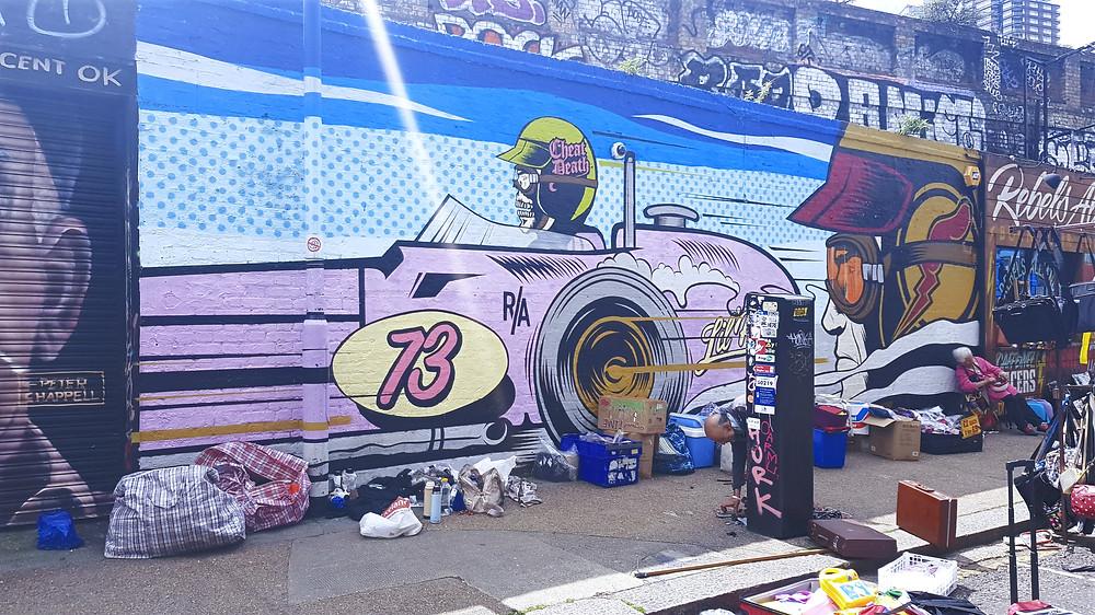 אמנות רחוב טיפוסית באזור שורדיץ'