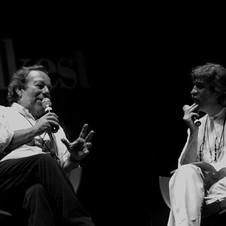 Edoardo intervistato da Guaitamacchi a Folkest 2008 - Foto Mariacristina Di Giuseppe