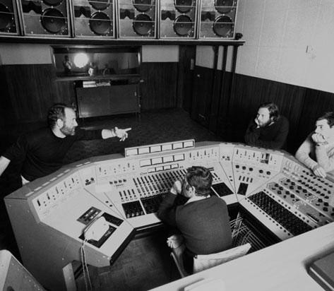 Studio A RCA con Gianni Marchetti, Giulio Spelta e Stelio 1971 - Foto Peppe D'Arvia