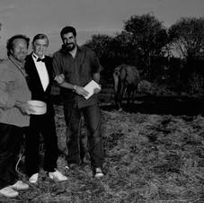 Con Endrigo e Sergio Trama sul set fotografico - Roma 2004 - Foto Mariacristina Di Giuseppe