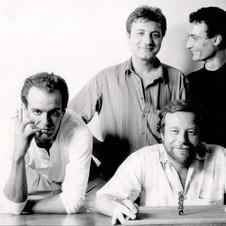 La band storica di Edoardo - 1985 - Guido Benigni, Rocco De Rosa, Edoardo, Ezio Zaccagnini, Marco Caronna - Foto Peppe D'Arvia