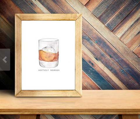 ColorMeEden artwork Bourbon glass