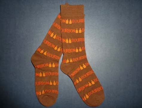 Bourbon-themed Office socks