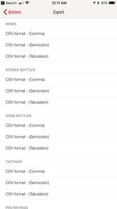 VinoCell's export feature