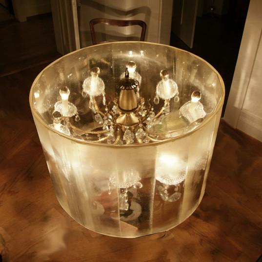 chandelier table.