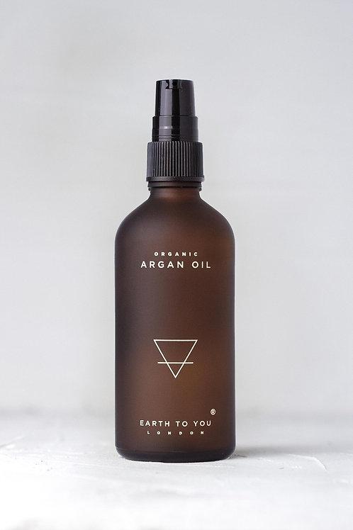 Organic Argan: Soften & Shine Hair Oil