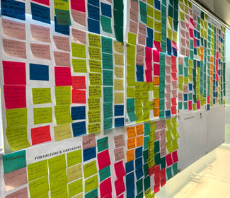 Mural post its