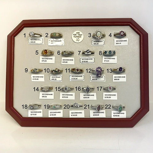 TRAY 10 - Pre Owned Rings