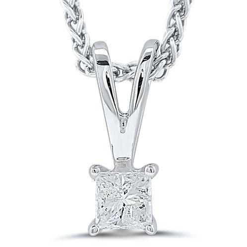 Princess Cut Certified Diamond Pendant