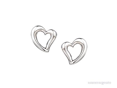 Love & Kisses Moonlight Heart Earrings