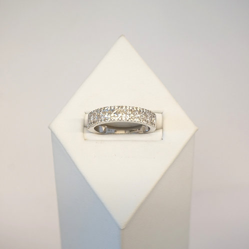 9ct White gold Diamond set Eternity  ring