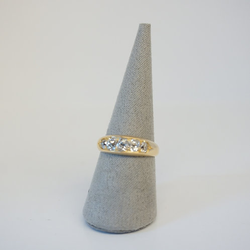 9ct Yellow Gold 5 Stone Diamond Ring