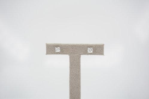 9ct White Gold Certified 0.5ct Diamond Studs