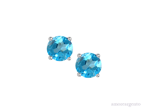 Blue Topaz Purity Earrings