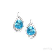 Viola Blue Topaz Earrings
