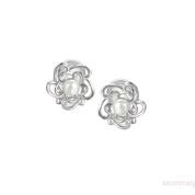 White Pearl Clip Earrings