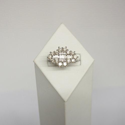 Diamond cluster  2.4ct