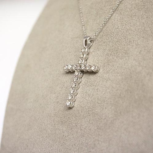Diamond cross on chain