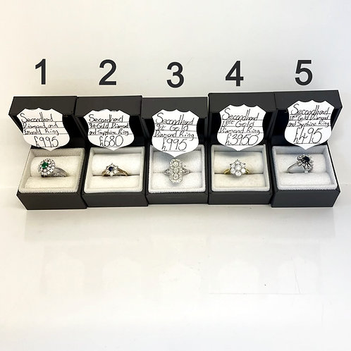BOXED RINGS - Pre Owned