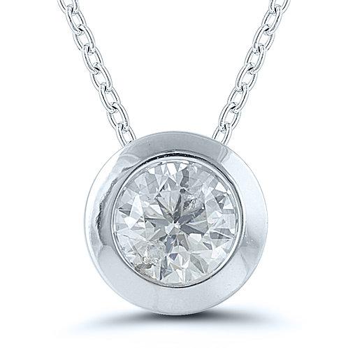 Certified Diamond Pendant White Gold
