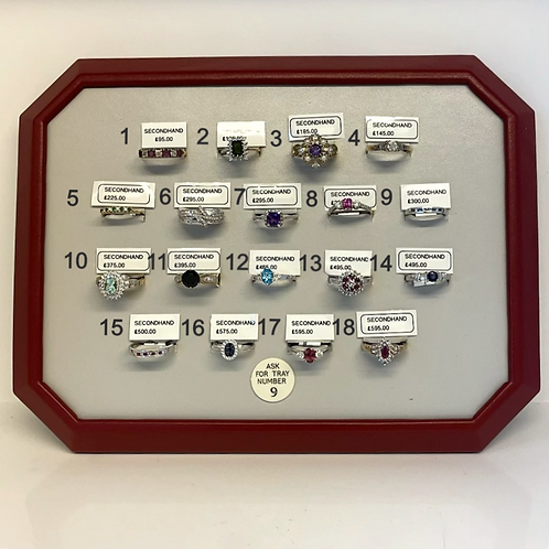 TRAY 9 - Pre Owned Rings