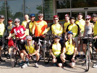 Hosting blind cyclists from the Trailblazers Tandem Cycling Club
