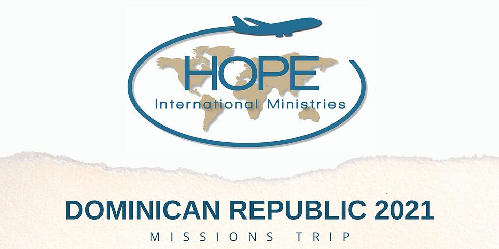 Dominican Republic 2021 Missions Trip
