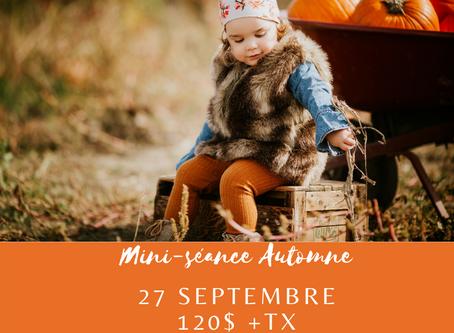 Bien se préparer pour votre séance mini séance d'automne