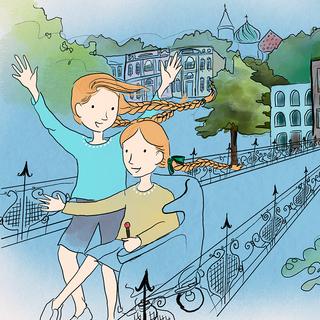 From 'Twin Tales: Hand in Hand Across the World' by Elizabeth Stewart, illustrated by Kemi Pennicott