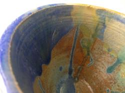 splatter detail pot bowl