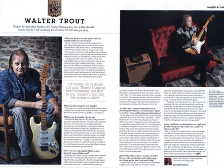 Walter Trout, Bought & Sold Feature & Album Review in Guitarist Magazine