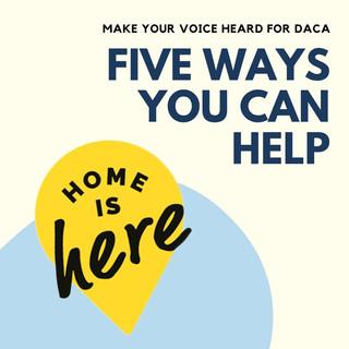 Five Ways you Can Help DACA