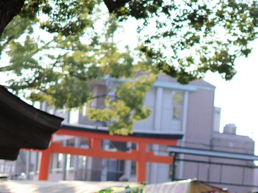 近所の神社の縁日に行きました。