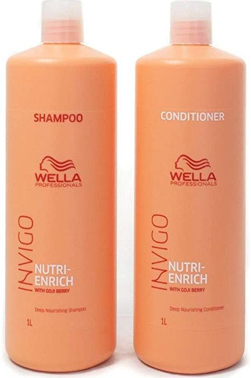 Shampoing/Revitalisant Nutri-Enrich Wella 1L